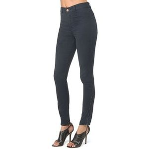 J Brand High Rise Major Skinny Jeans in Navy